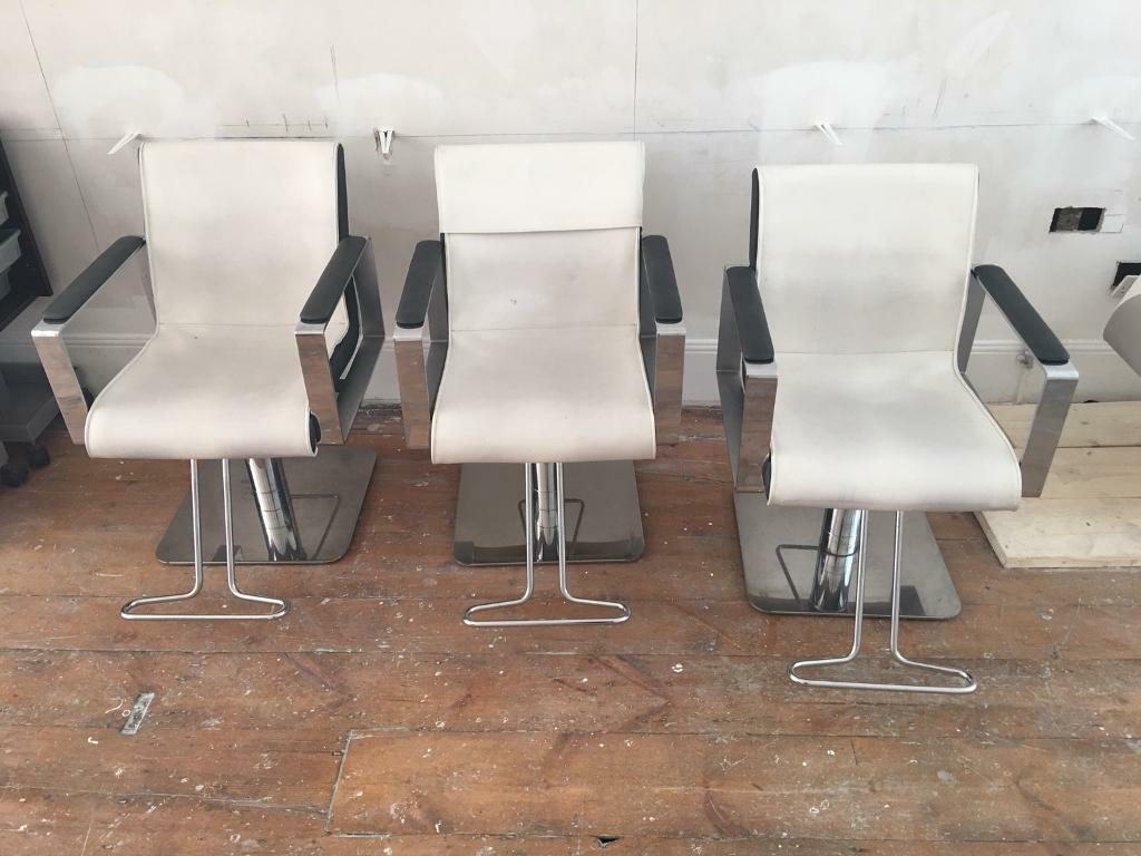 3 luxury Hairdressing salon chairs - hydraulic