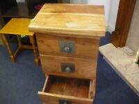 INDIAN-STYLE 3-DRAWER MINI CHEST at Haven Housing Trust's charity shop