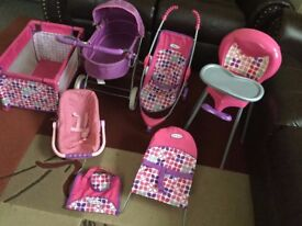 Girls 7pc Dolls Set