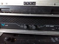 W audio power amp. HTC 1800' Bristol!!