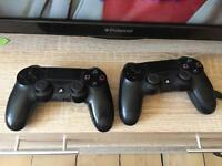 2x PlayStation 4 Controllers and connection wire