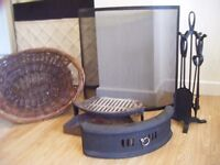 Fire front, basket and ash can plus accessories - all you need for an open fire.