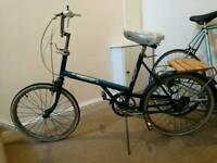 Ladies vintage bike with back rest