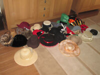 29 Fancy Dress & Ladies Hats - Job Lot Mixed Wedding Car Boot dressing-up children play