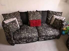 Large Sofa & Swival Tub Chairs