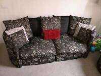 Large Sofa & Swival Tub Chairs