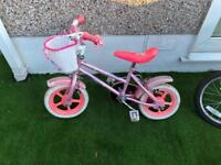 "Girls 12"" bike with basket good used condition"