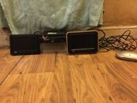 """Veba DVD player and two 7"""" inch TV Screens"""