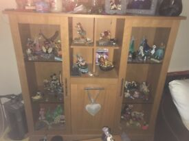 Beautiful Ikea billy oak display unit lovely glass 16 inches deep 53inches wide 53 inches high