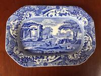 Copeland Spode blue Italian porcelain vintage rectangular tray plate