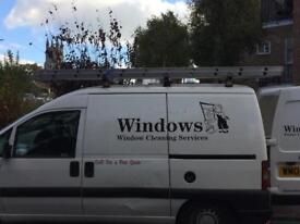 Van fitted window cleaning reach and wash
