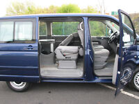 2005 55 vw caravelle 2.5 130se 14 service stamps cheapest anywhere, no reasonable offer refused