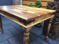 Sheesham Hardwood Dining Table - 4 Seater - Brand New