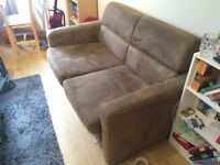 2 person Brown Sofa Bed for free