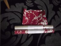 2 x rolls Laura Ashley wall coverings wallpaper + matching fabric panel material