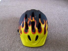 Boys Flame Cycle Helmet 48-52cms