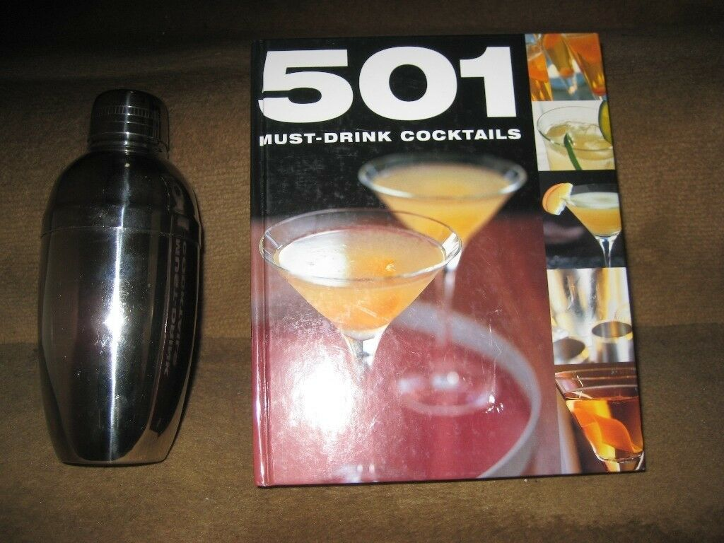 501 Must-Drink Cocktails Hardback Book and Cocktail Shaker