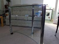 computer desk glass