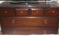 Dark wood chest of drawers