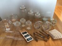 Assortment of sweet stall / candy bar jars