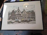 a dler etching of frankfurt