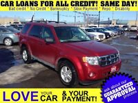 2012 Ford Escape XLT 4WD * CAR LOANS FOR ALL CREDIT SITUATIONS