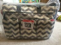 Skip Hop Chevron Duo changing bag brand new