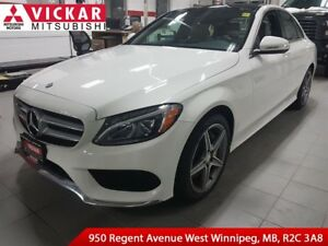 2015 Mercedes-Benz C-Class 300 4MATIC/Navigation/Tan Leather