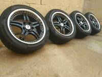 CHEAP BMW VW T5 ALLOYS AND TYRES