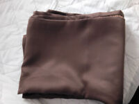 thermal curtains 90x90 inch chocolate brown with pole
