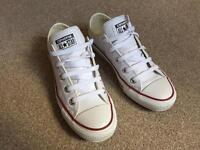 womens converse white all star oxford leather trainers size 5