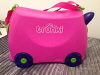 Girls pink Trunky suitcase , great condition