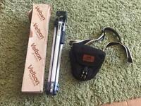 SLR camera bag and tripod