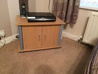 Small lightweight wooden tv unit