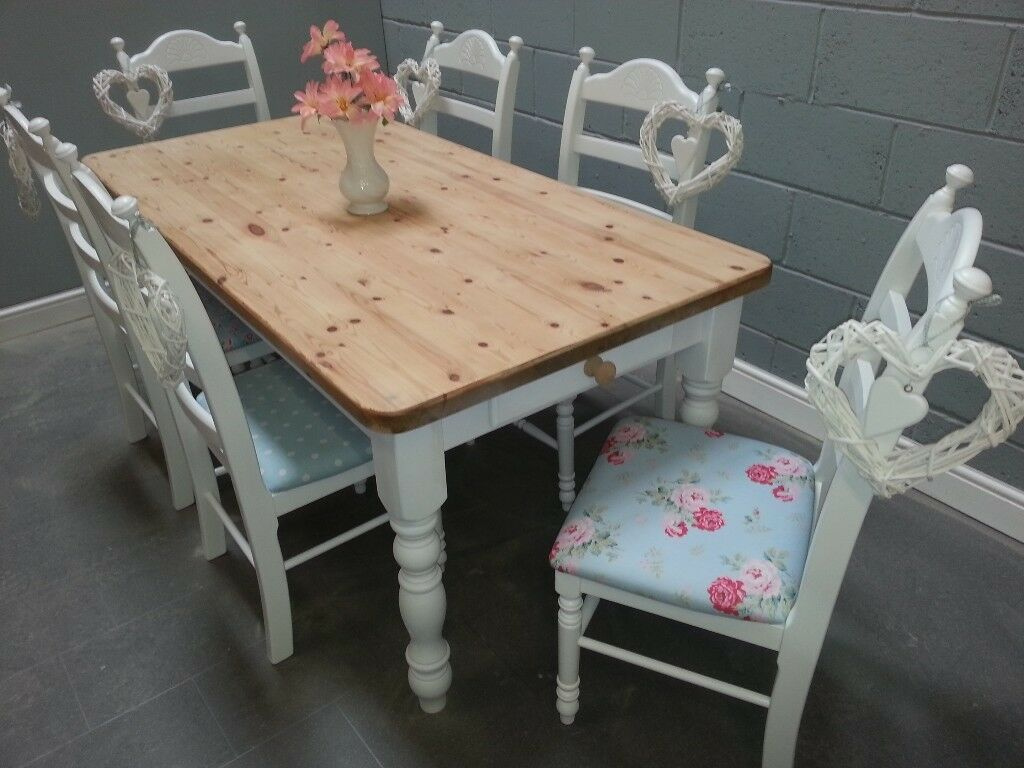 Fantastic 6ft Chunky Country Shabby Chic table &