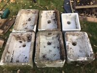 Reclaimed Belfast/Butlers sinks ideal for alpine planting x6