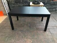 Dark Brown/Black Dining Room Table x4 Chairs