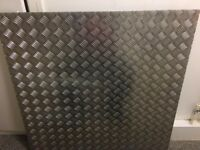 Steel chequer plate. 1 metre square. 5mm thickness.