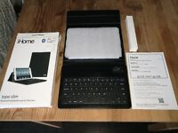 iPad mini, iHome Type slim Bluetooth keyboard case