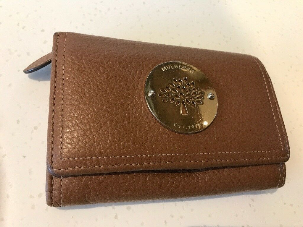 Mulberry Daria Ladies Tan Brown Leather Purse Wallet VGC  8e6e4292ac6e1