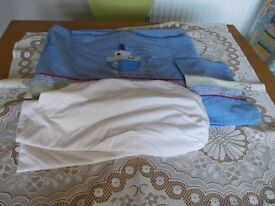 Cot quilt set cover fitted sheet pillow slip very good condition