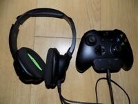 Official Xbox One controller plus Turtle Beach headset and stereo headset adaptor