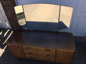 Meredew maple high gloss veneer dressing table vintage 1960's 1970's