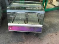 HOT FOOD DISPLAY CABINET FAST FOOD CATERING COMMERCIAL KITCHEN RESTAURANT CAFE BBQ TAKE AWAY BAR