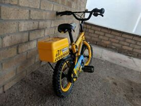 """Apollo Digby Children's Bike Bicycle 12"""" Inch Wheels Steel Frame in Yellow"""