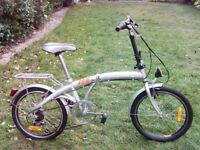 Unisex Silver Folding Camping Bicycle Bike - Excellent Condition. Catford SE6
