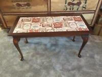 Vintage Upcycled retro coffee table man cave