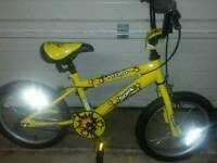 "Sonic nitro 16"" inch boys bike"
