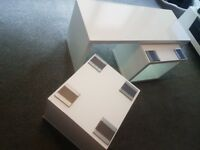 White gloss cofee table with 2 side tables