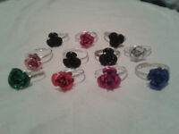 rings rose design 50 pieces size adjustable new